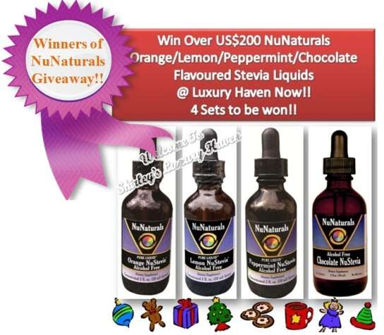 luxury haven nunaturals stevia sweeteners giveaway