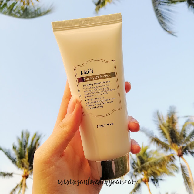 Review; Dear Klairs' Soft Airy UV Essence SPF50+ PA++++