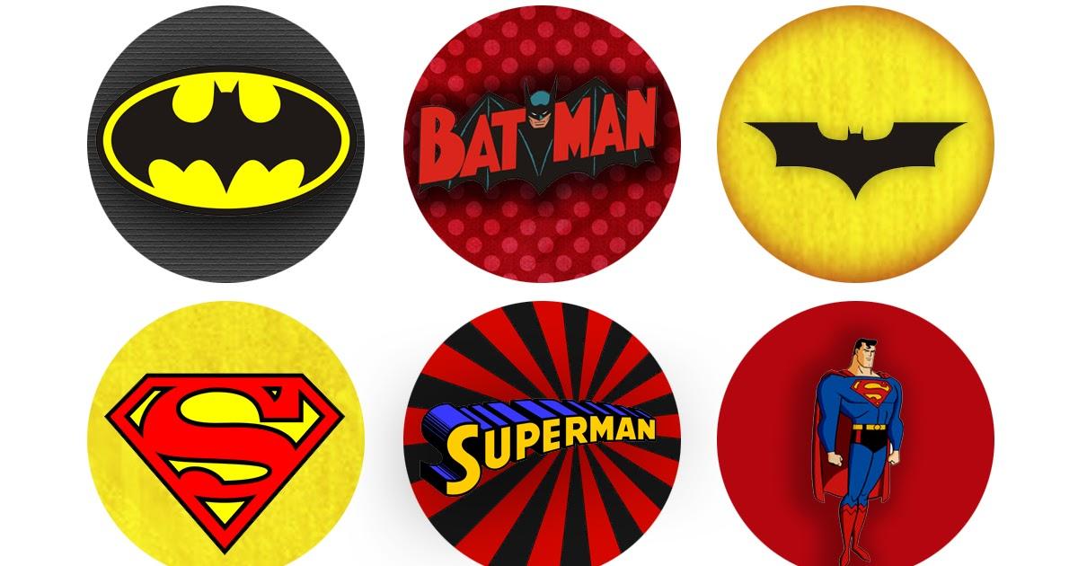 Super Héroes: Etiquetas o Toppers para Imprimir Gratis