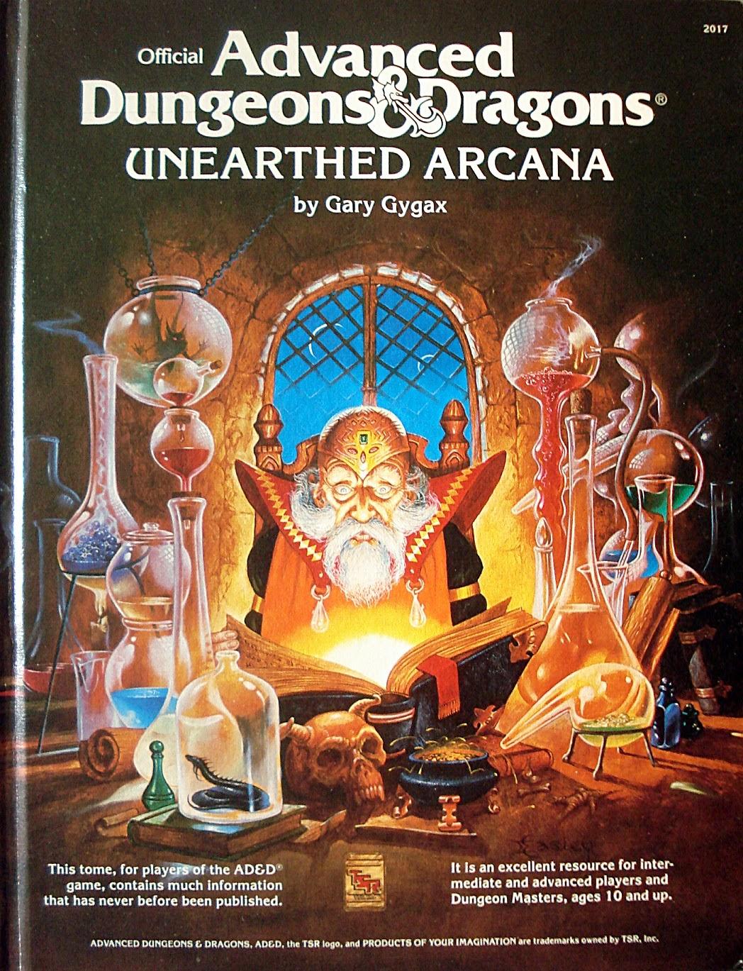 Tenkar's Tavern: Unearthed Arcana 1e - Boon or Bane?