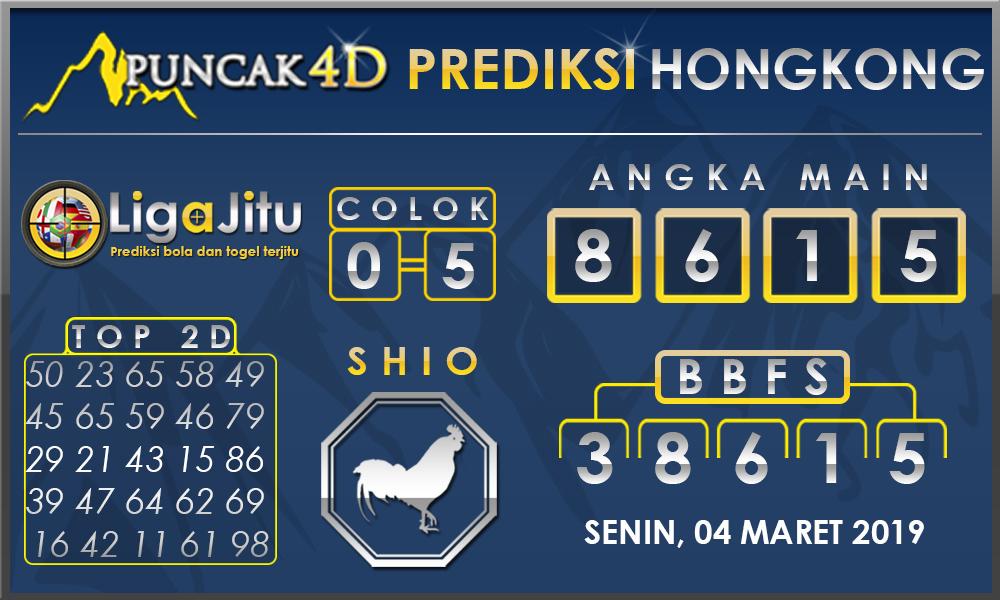 PREDIKSI TOGEL HONGKONG PUNCAK4D 04 MARET 2019