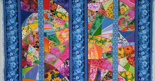 Allie Aller's Stained Glass Quilts Reimagined: Fresh Techniques and Design. The New Book Quilts Are on Display at Road to California Jan 18-22, 2017