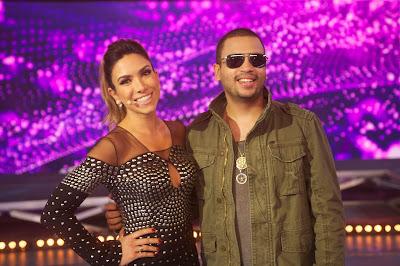 Patricia Abravanel é o rapper Projota - Crédito:Sandro Alencar/SBT