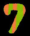 数字 7 イラスト文字