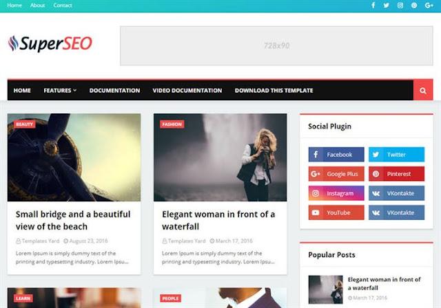 Super Seo Optimised Blogger Theme