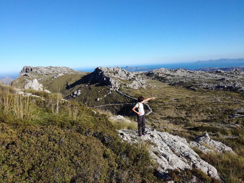 Salita verso el Puig de Ca