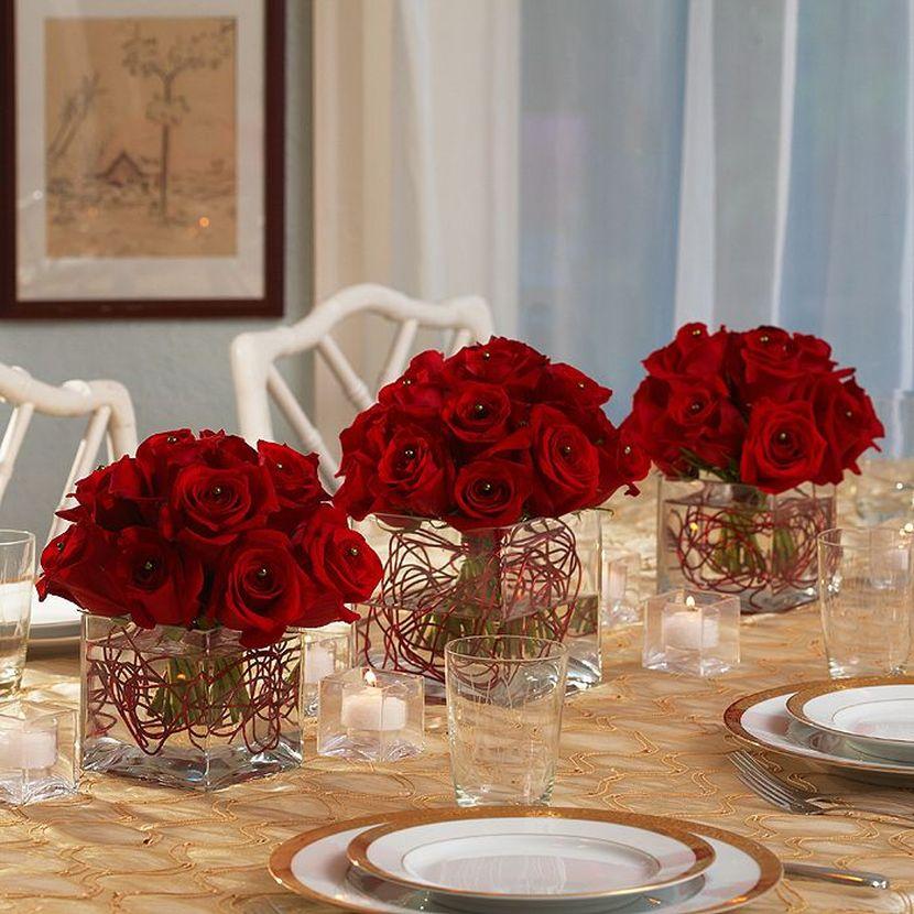deco pour table noel fleur