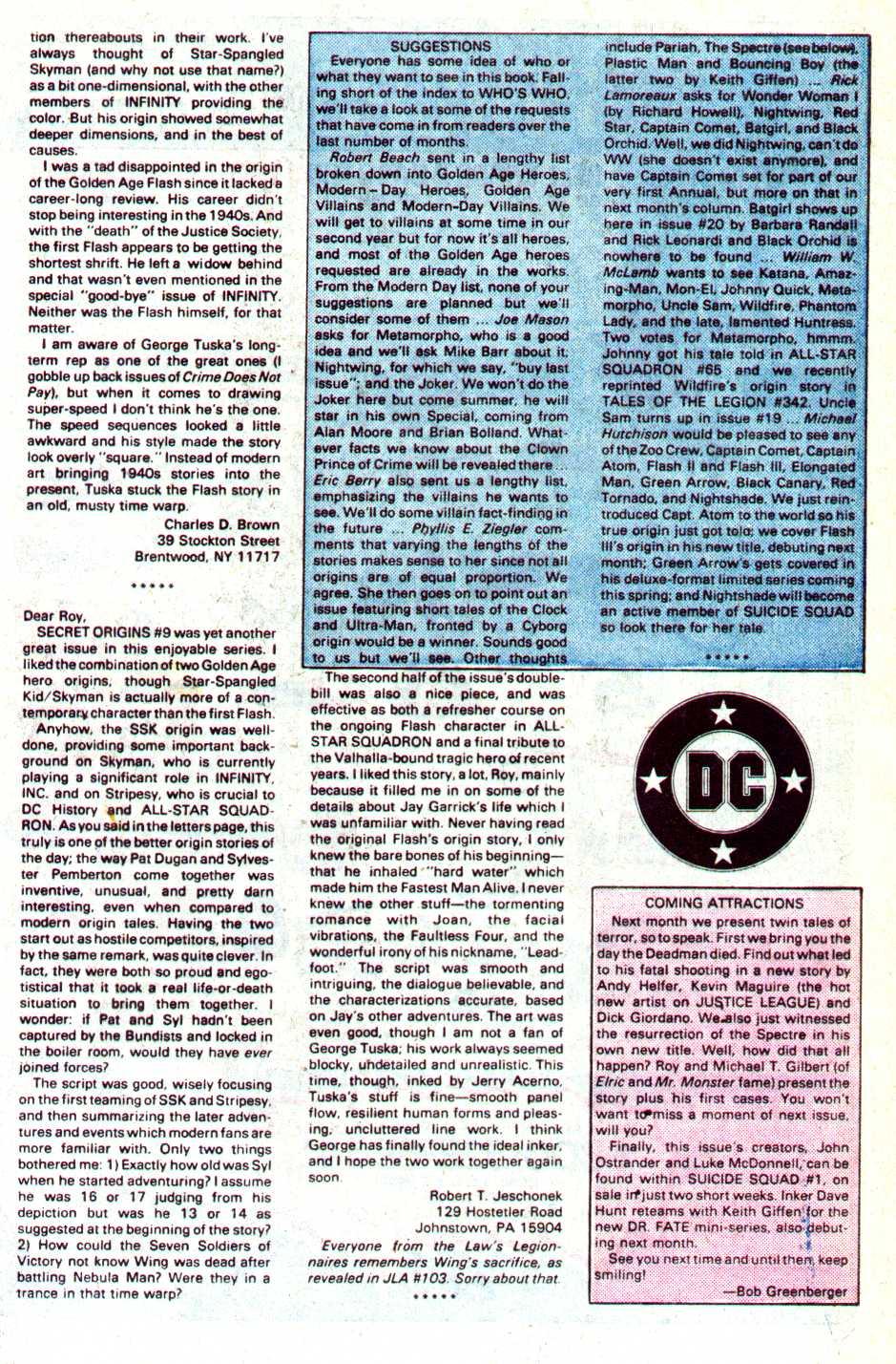 Read online Secret Origins (1986) comic -  Issue #14 - 44