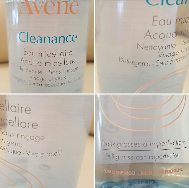 acqua micellare cleanance avene