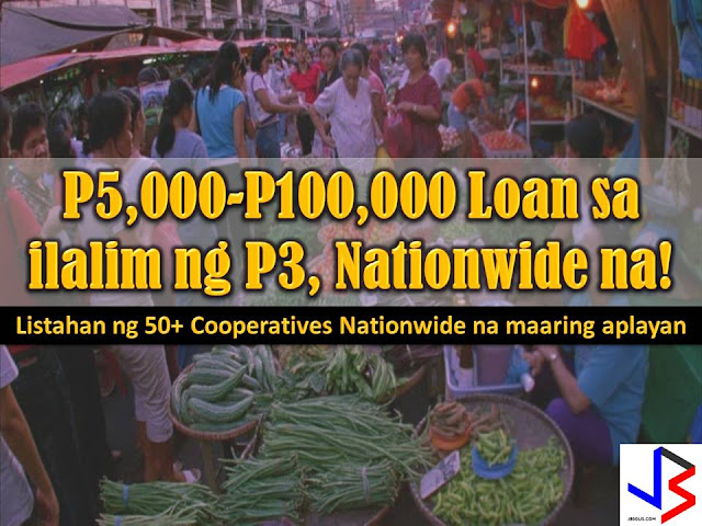 "Now that the ""Pondo Para sa Pagbabago at Pag-asenso"" or P3 is already nationwide, do you know where to go to benefit or apply for the program?  P3 is a financial assistance of Duterte Administration for small market vendors and micro-entrepreneurs that are often victims of loan sharks or 5'6 loaning schemes.  In this program, borrowers can loan from conduit organization or cooperatives from P5,000 to P100,000 with 2.5% interest rate.  Under P3 the government promised a no-collateral, low interest and easy to access loan program.  It means you may have your loan approved within a day and take home your money. Loans may be paid daily or weekly basis."
