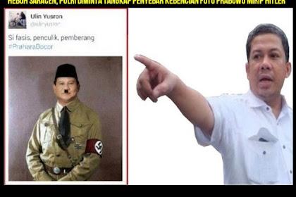 Heboh Saracen, Polri Diminta Tangkap Pemilik Akun Penyebar Kebencian Foto Prabowo Mirip Hitler