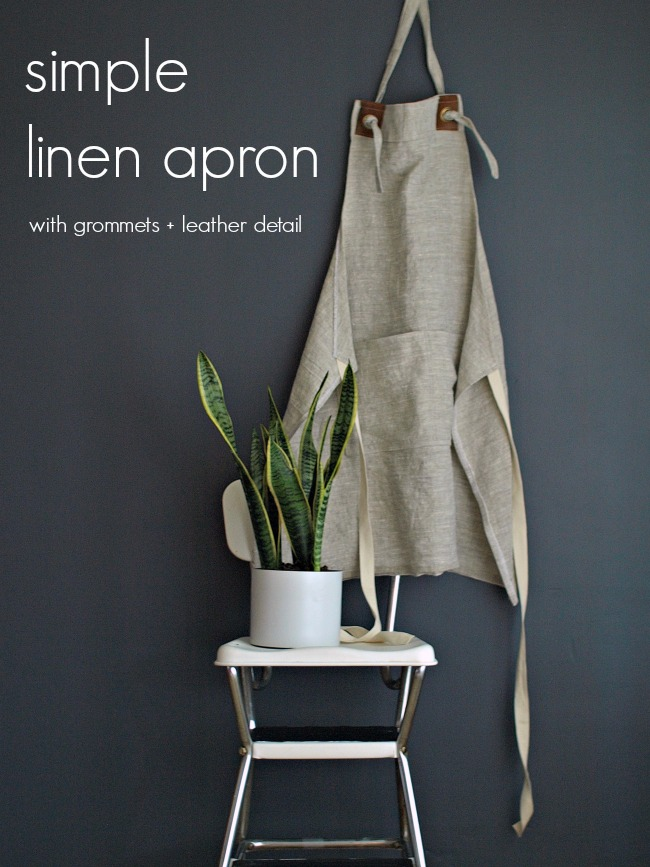 Simple Linen Apron || This Little Miggy
