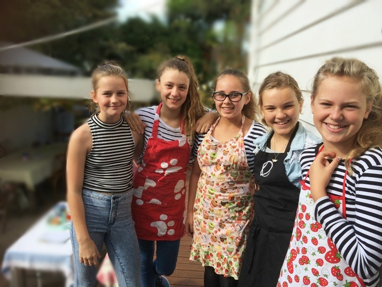 The 11 year old girls who ran our Pop-Up Garden Cafe to rave reviews