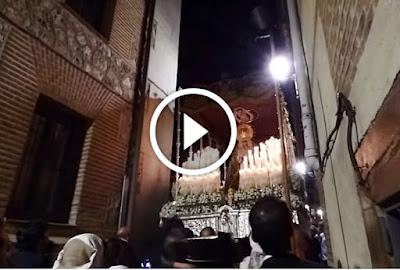 Macarena por estrechez de Calle del Cordon de Madrid en la salida extraordinaria del año 2015 por el Madrid de los Austrias