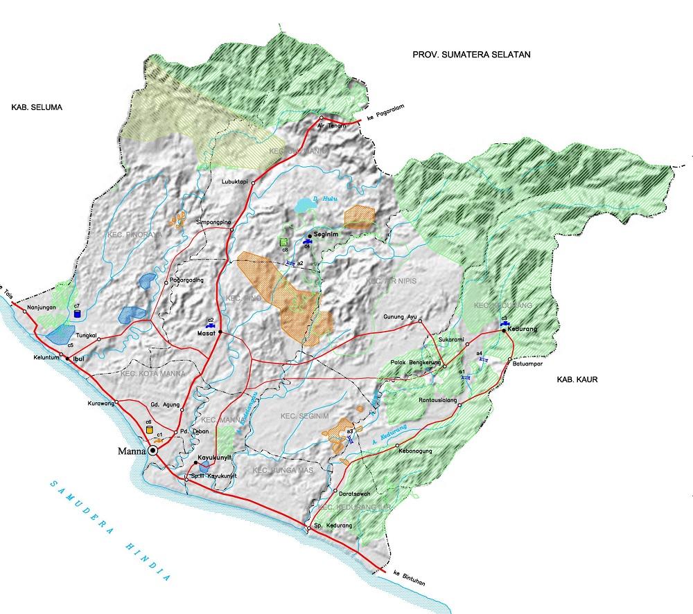 Peta Bengkulu Selatan