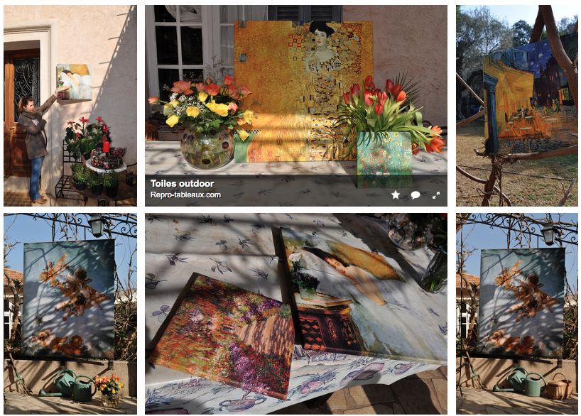 Exposer ses reproductions de tableaux en extérieur en toute sécurité