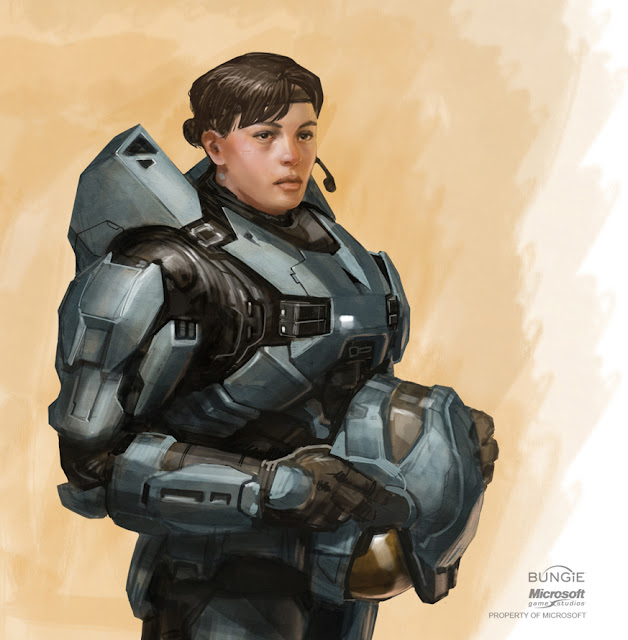 spartan Kat from Halo Reach sketch