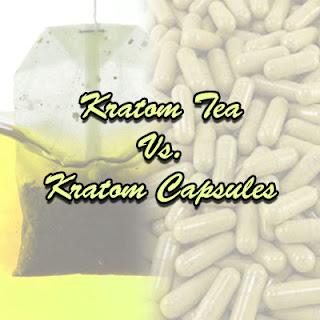 kratom tea vs kratom capsules