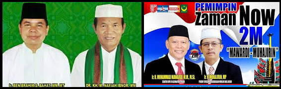 Dua pasang calon Bupati dan wakil Bupati Kabupaten Kapuas 2018