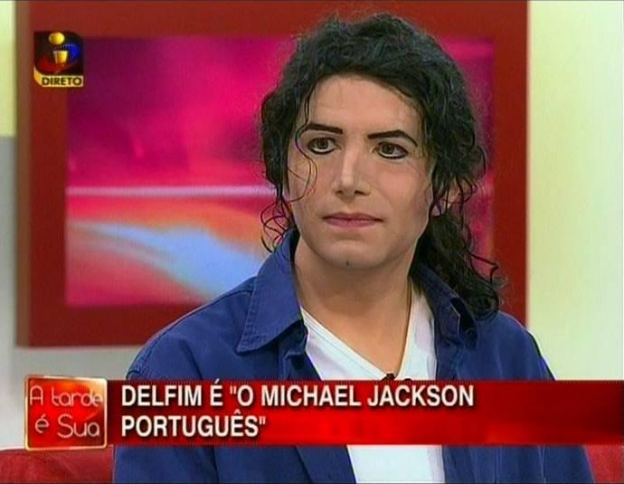 "Delfim Miranda - Michael Jackson Tribute - TV screenshot - ""Delfim is the portuguese Michael Jackson"""