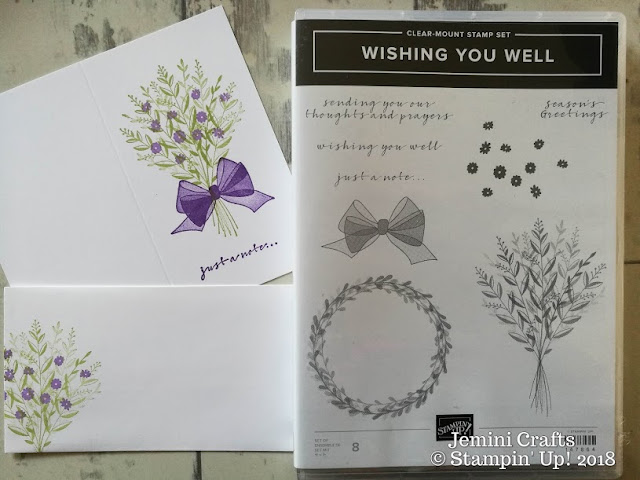 Wishing you Well will be available to order from 5/09/18 jeminicrafts.co.uk