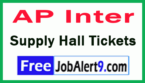 AP Inter Supply Exam Hall Tickets Download