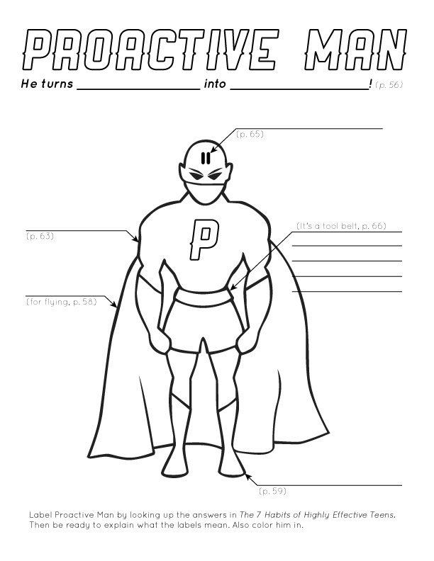 Design + Technology Education: Proactive Man coloring page