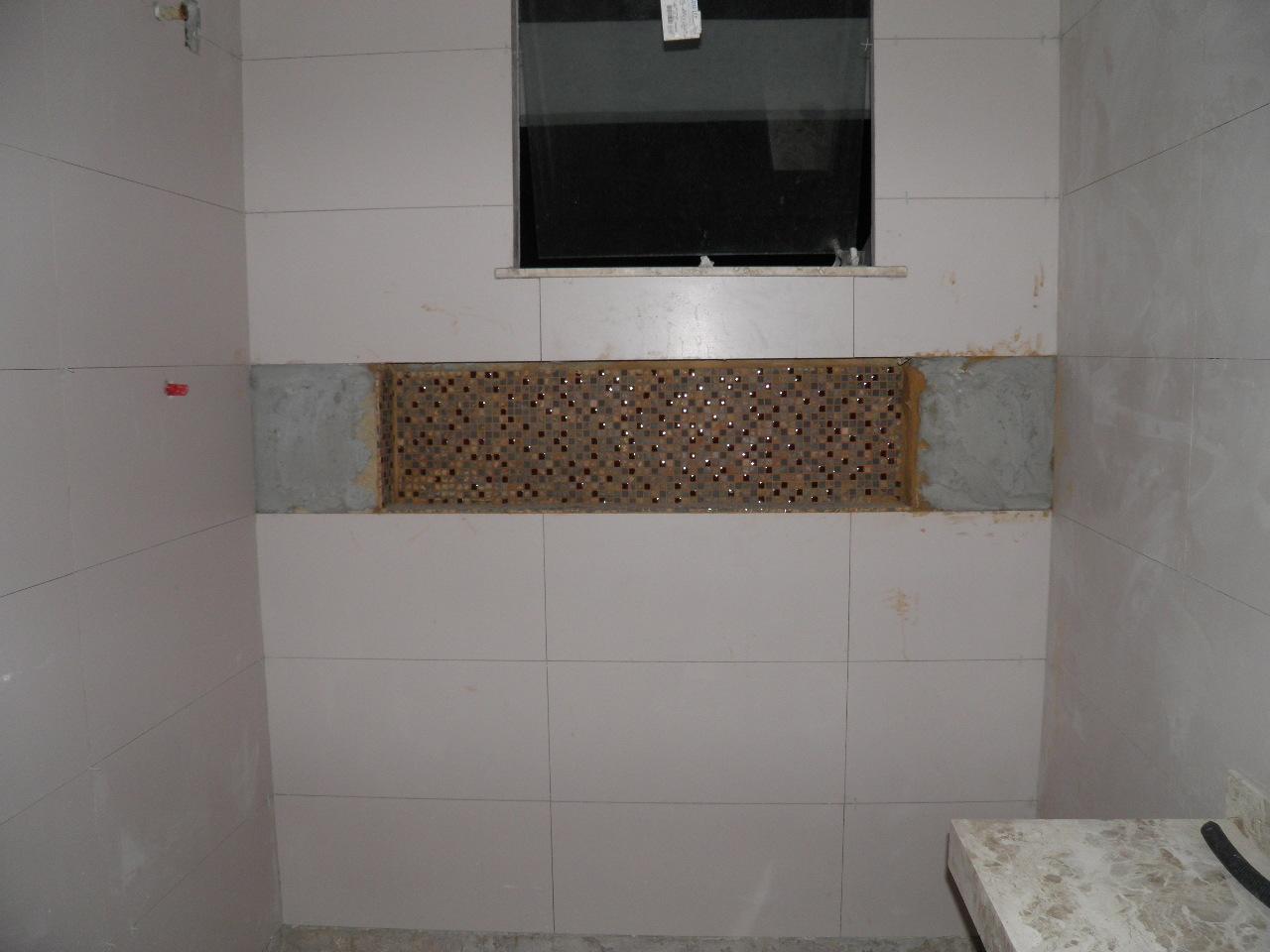 Construindo um Castelinho -> Nicho Banheiro Led