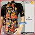 BTK108 Baju Ecer Hem Batik Flamboyan Modis Murah BMGShop