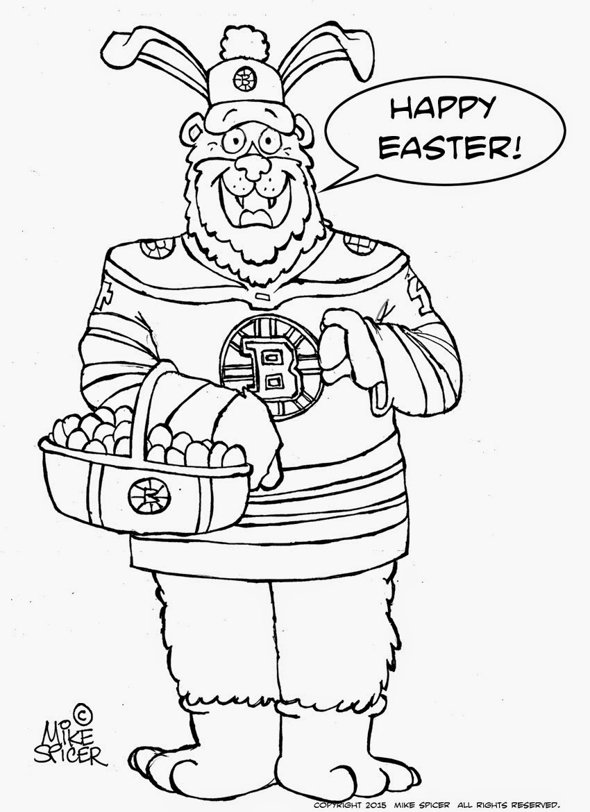 boston bruins printable coloring pages | Mike Spicer Cartoonist / Caricaturist.: Easter Colouring ...
