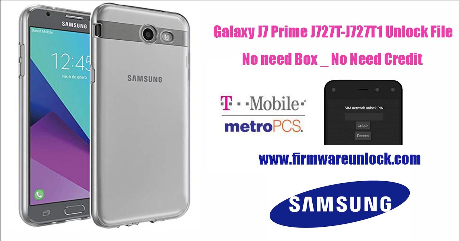 J7 Prime J727T-J727T1 Network lock Sim (Unlock File) No Need