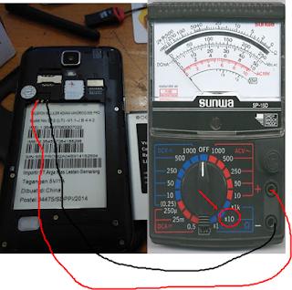 Tes pengukuran pada hp android yang normal.