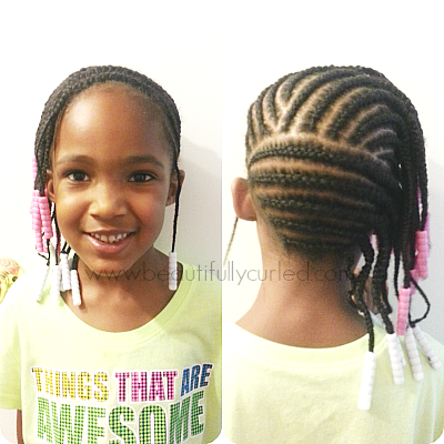 Incredible Beautifully Curled Side Cornrow Hairstyle Hairstyles For Women Draintrainus