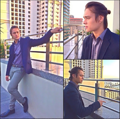 Enrique Gil wearing corporate attire