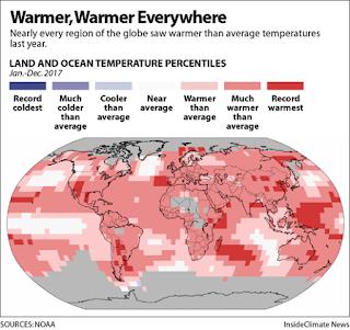 Warmer, Warmer Everywhere (Credit: NOAA) Click to Enlarge.