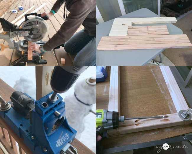 cutting wood and drilling pocket holes
