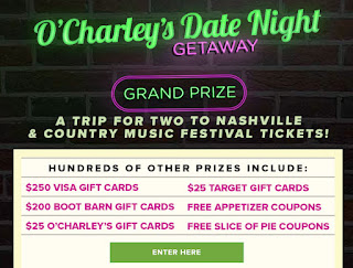 8ac9d808f818 O Charley s Restaurants Instant Win Giveaway - 1