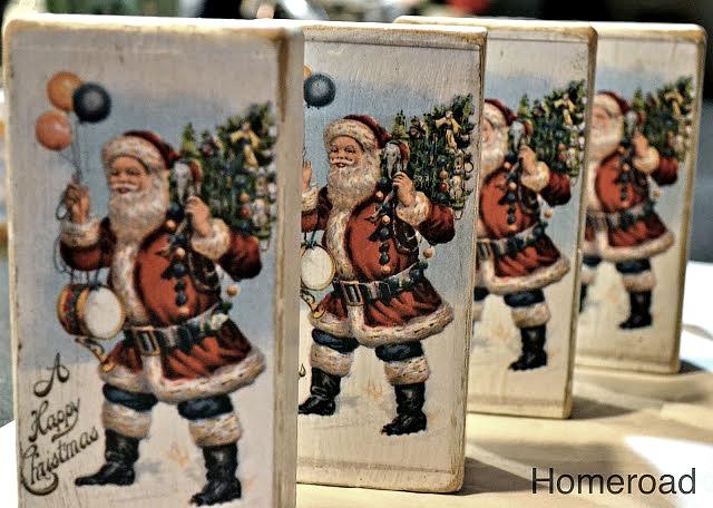 DIY Children's Block Christmas Postcards. Homeroad.net