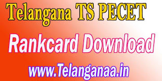 Telangana TS PECET Rank Card TSPECET 2017 Rankcard Download
