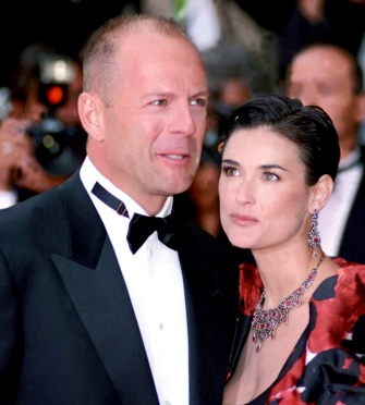 Foto de Demi Moore y Bruce Willis adultos