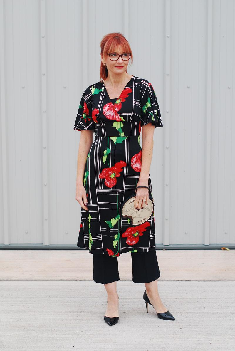 Dress code eighties - Cocktail Dress Code A 1970s 80s Vintage Poppy Print Dress Iwillwearwhatilike