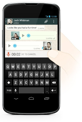 WhatsApp Messenger update brings Voice Messaging to Android