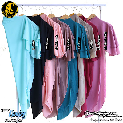 khimar Baby Doll Dua Layer  Model Pinguin Variasi Kancing Depan