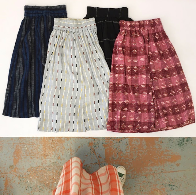 Ace & Jig Ra Ra Midi Skirts in Chintz, Ivy, Black Hole, and Damask