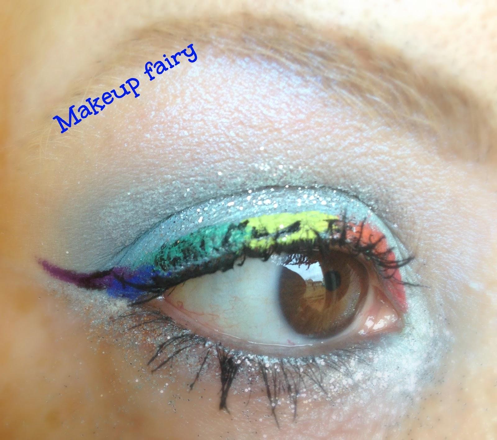 Cheetah eye makeup