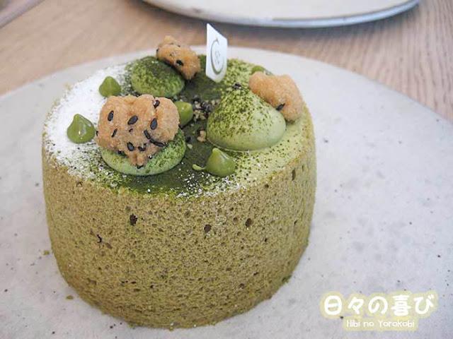 Angel cake matcha pâtisserie Ciel Paris