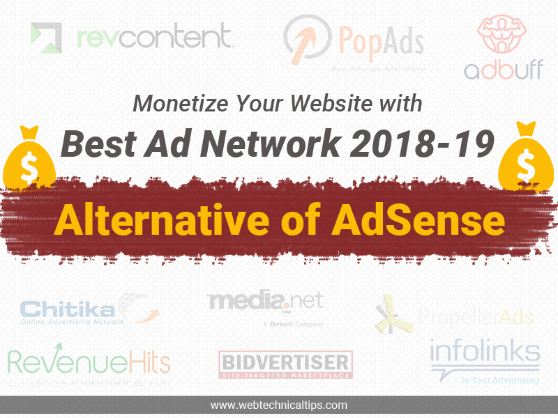 Top 11 Tested Google Adsense Alternatives 2019 for Blogger