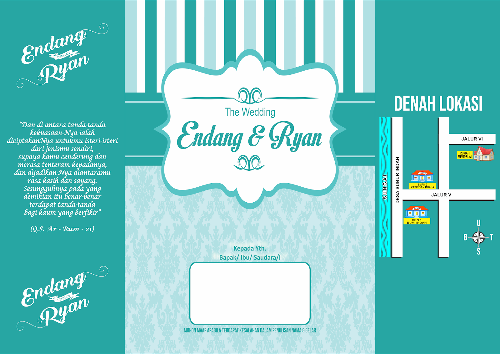 Download Desain Undangan Pernikahan Cdr - Gio Lesmana