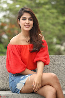 Rhea Chakraborty in Red Crop Top and Denim Shorts Spicy Pics ~  Exclusive 041.JPG