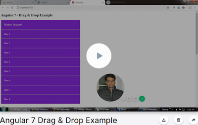 Angular 7 Drag & Drop with Handle and Sorting Example